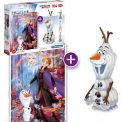 Divertido Set Puzzle y Figura Armable 3D Frozen II