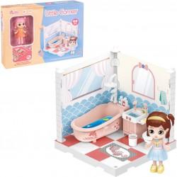 Muñeca Coleccionable Little Corner Mueble de Baño