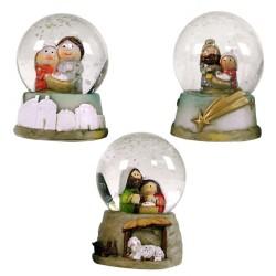 Bola nieve nacimiento cristal 3/m 4,50 x 4,50 x 6,50 cm