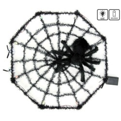 Telaraña tarántula con luz 58 x 6 x 58 cm