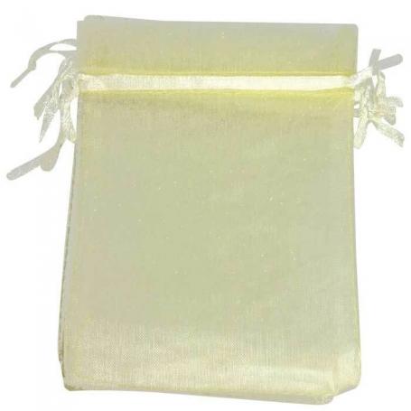 9 x 15 Beige Organza Bags