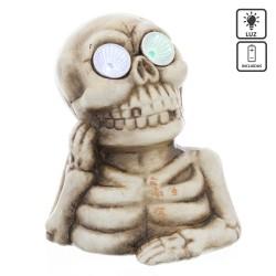 Esqueleto con luz led poliresina 13,40 x 10,60 x 15,40 cm
