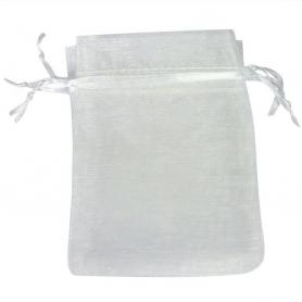 Bolsa Organza Blanco  Bolsa de organza Boda 10 x 13 Bolsas de