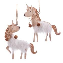 Colgante unicornio madera 2/m 10 x 12 x 0,50 cm