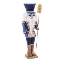 Soldado flocado foam azul 13 x 12 x 41 cm
