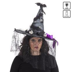 Sombrero de bruja con luz 46 x 46 x 41 cm