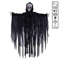 Muerte luz sonido y movimiento negro 70 x 10 x 90 cm