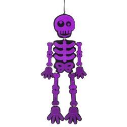 Esqueleto purpurina poliester morado 25 x 0,30 x 82 cm