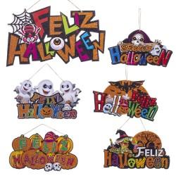 Cartel feliz halloween foam 6/m 37 x 0,50 x 20 cm