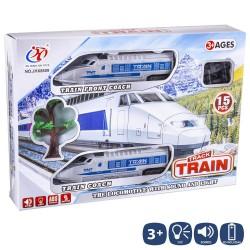 Pista tren con accesorios