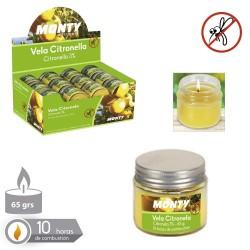 Vela 3% citronela tarro cristal tapa met 6,20 x 5,60 cm