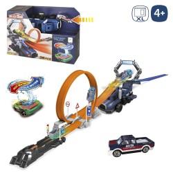 Pista looping con coche 128 x 20 x 12 cm