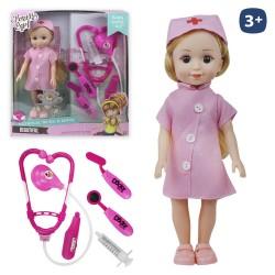 Muñeca enfermera con accesorios 26 cm