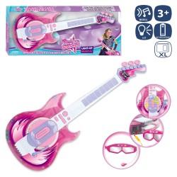 Guitarra con micrófono y gafas 58 cm