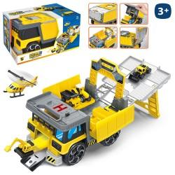 Camión parking vehículos 25 x 14 x 15 cm