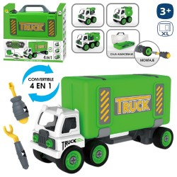 Maletín camión 4 en 1 reciclaje 36 x 10 x 18 cm