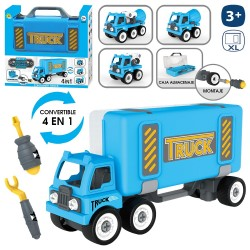 Maletín camión 4 en 1 policía 36 x 10 x 18 cm