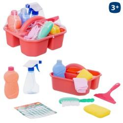 S/10 conjunto limpieza con cesta 23,50 x 22,50 x 14 cm