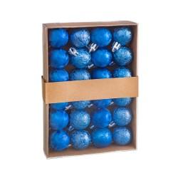 S/24 bolas aguas plástico azul 3 x 3 x 3 cm