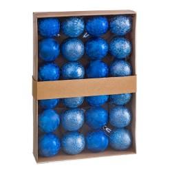 S/24 bolas aguas plástico azul 4 x 4 x 4 cm