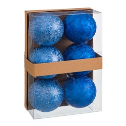 S/6 bolas aguas plástico azul 8 x 8 x 8 cm