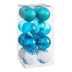 S/16 bolas decorada foam azul 6 x 6 x 6 cm