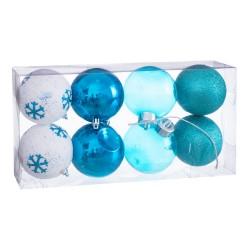 S/8 bolas decorada foam azul 8 x 8 x 8 cm