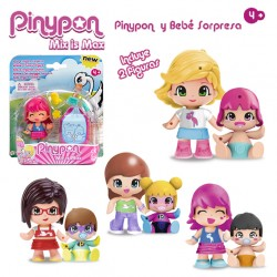 S/2 figura pinypon y bebe sopresa 4/m 8 cm
