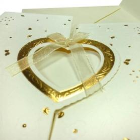 Tarjetas de Invitación de Boda Baratas Golden