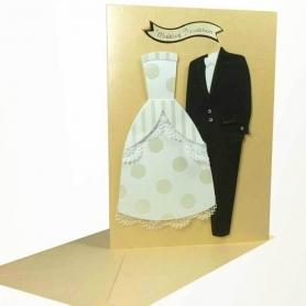 Invitaciones de boda traje ingles