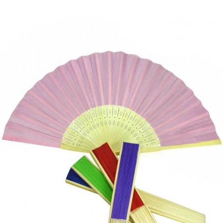 Wooden fans guests wedding outlet