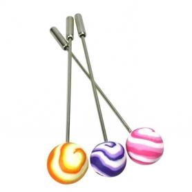 Alfileres Bolas Color: naranja, rosa, violeta Alfileres