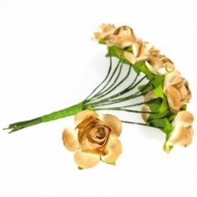 Decoraciones de Regalos Flores de Papel y Broches para Bodas