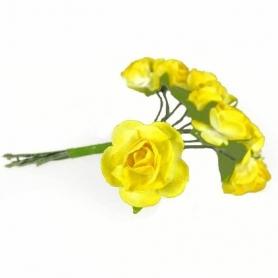 Flores de Papel de Regalo  Flores de Papel y Broches para Bodas