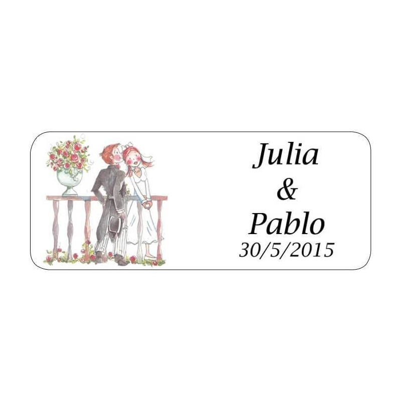 Pegatina Romeo y Julieta  Etiquetas