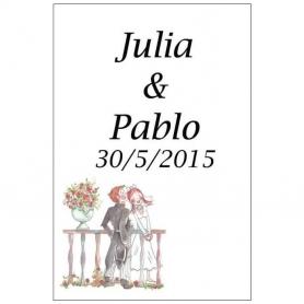 Pegatinas de Vino Romeo y Julieta