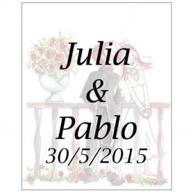 Etiquetas para Personalizar Romeo y Julieta