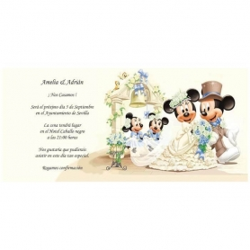 Invitaciones de Boda Mickey Mouse 0.49 €