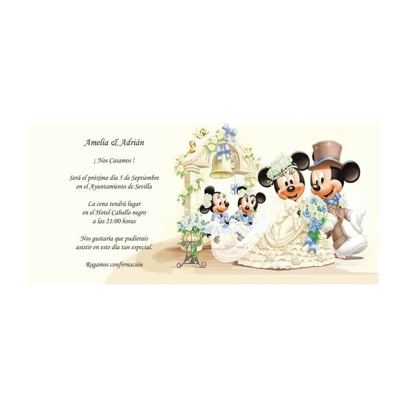Invitaciones de Boda Mickey Mouse