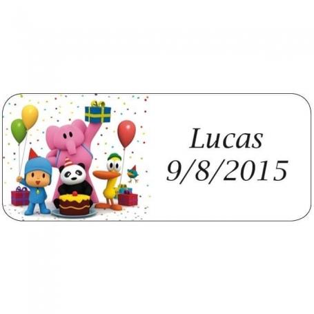 Etiquetas Pocoyo Adhesivos y Tarjetas Detalles Cumpleaños