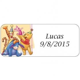 Etiquetas para Regalos Infantiles Winnie The Pooh