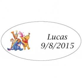Etiquetas de Cumpleaños Winnie The Pooh
