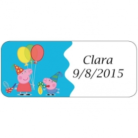 Pegatinas de Cumpleaños Peppa Pig