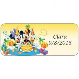 Pegatinas de Cumpleaños Infantiles Mickey