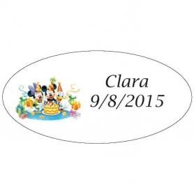 Etiquetas Infantiles Mickey