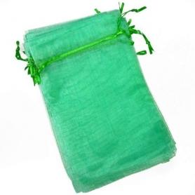 Bolsas de Organza Baratas Verde Palo 13x17