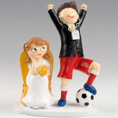 Figura de Novios Fútbol Figuras Tarta Necesarios Boda