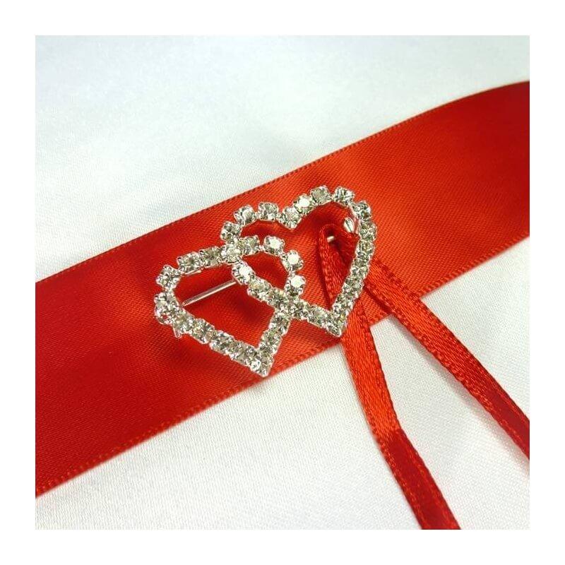 Cojines rojos para boda, cojines, bouquet y arras