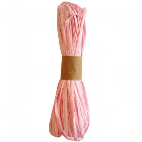 Raffia Ribbon for Pink Gifts