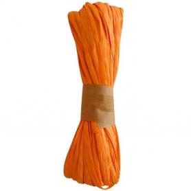 Cinta Rafia para Regalos Naranja